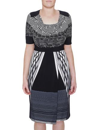 Graphic Print Jersey Dress