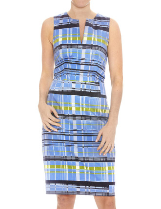 CITRUS STRIPE SATEEN DRESS