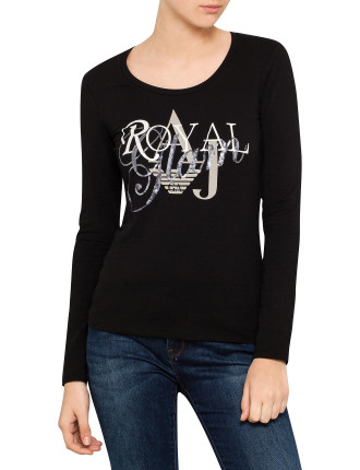Royal Glam Motif Metallic Tee