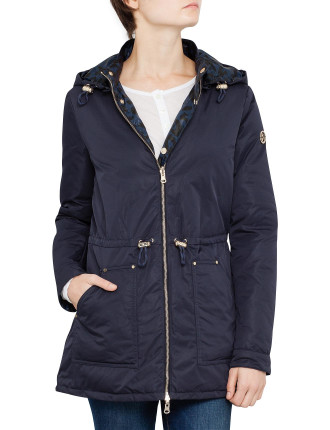 Longline Reversible Toggle Hooded Puffer Jacket