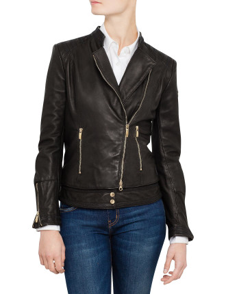 Fitted Double Layer Leather Jacket