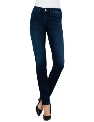 High Rise Slim Fit Skinny Leg Jean Dark Indigo