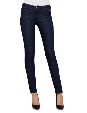 Medium Rise Skinny Fit Super Skinny Leg- Stretch Navy