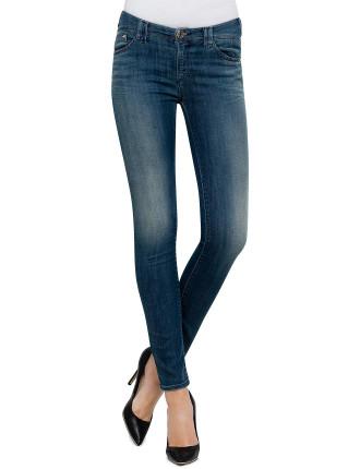 Medium Rise Skinny Fit Super Skinny Leg- Light Denim