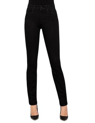 High Rise Slim Fit Skinny Jean Clean Black
