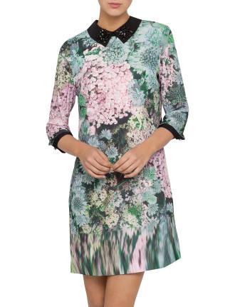 Jacen Glitch Floral Print Tunic
