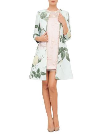 Rafell Rose Print Coat