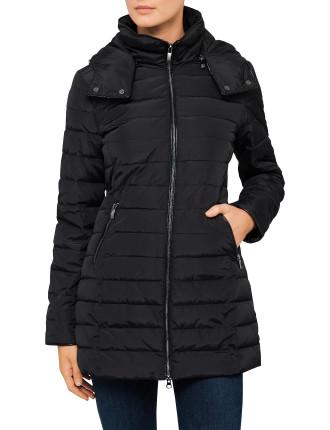 Semi Shiny Long Puffer Jacket