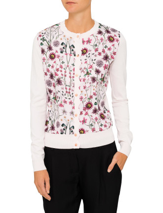 CLER UNITY FLORAL CARDIGAN
