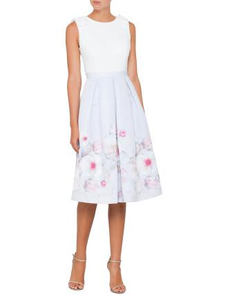 GILITH CHELSEA BOW SHOULDER DRESS