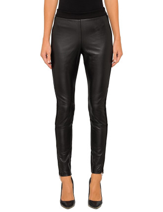 MINNEY PANELLED LEATHER LEGGING