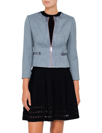 NADAE CROPPED BOW DETAIL JACKET