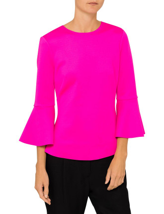GIGIH CROPPED BELL SLEEVE TOP