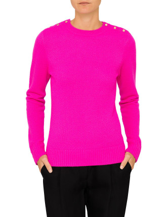 GORJIE TEXTURED ELBOW PATCH JUMPER