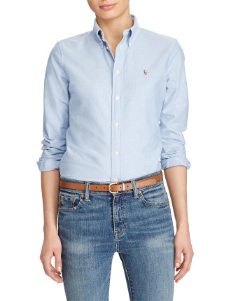 HARPER-LONG SLEEVE-SHIRT-WASHED OXFORD