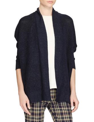 3/4 Sleeve Open Texture Cardigan