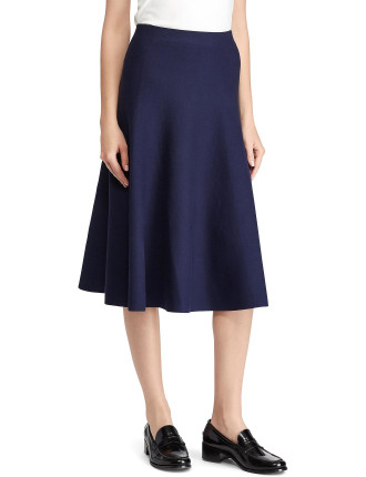 Pull On Circular Structured Knit Skirt