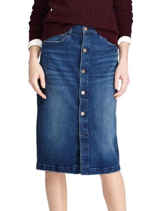 Peckham Wash Button Front Skirt
