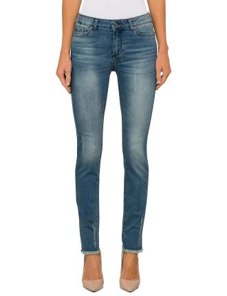 J69 Skinny Jeans With Slight Abrasion