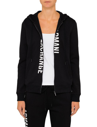 Armani Logo Hooded Zip Through