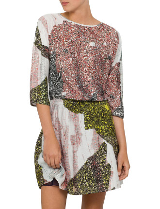 Asparkla Sparkle Print Dress