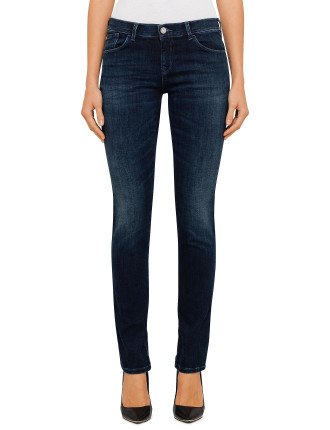 Mid Rise Skinny Push Up Jean