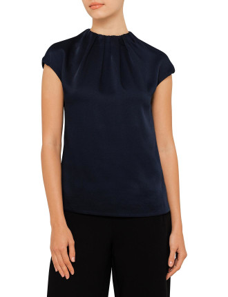 Leonee Gathered Neck Top