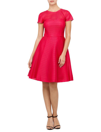 Carniva Fit And Flare Mesh  Dress