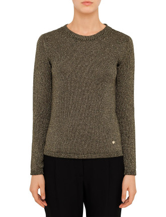 Lurex Olive Gold Knit