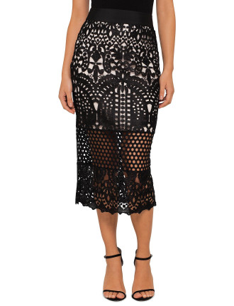 Neoma Lace Pencil Skirt