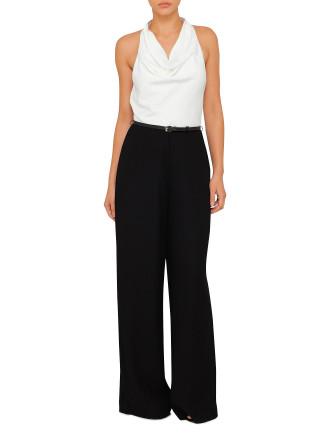 Parilo Cowl Neck Wide Leg Jumpsuit