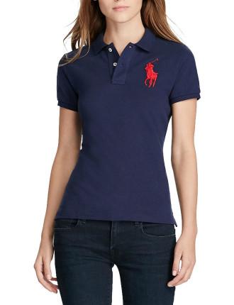 Big Pp Polo Logo Basic Mesh Polo T-Shirt