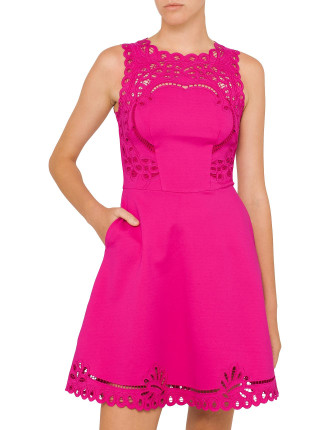Verony Embroidered Skater Dress