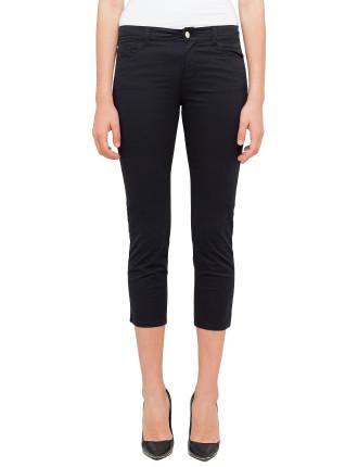 J03 Medium Rise Cropped Skinny Gabardine Stretch Pant