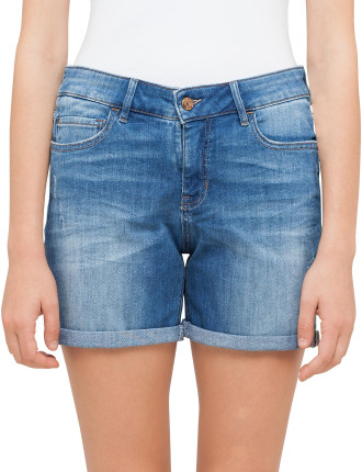 Orange J70 Hershey Mid Rise Girlfriend Fit Shorts