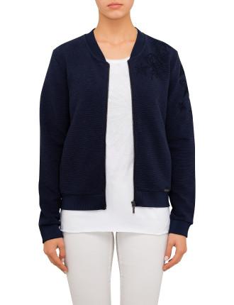 Tablues Embroidered Bomber Sweatshirt