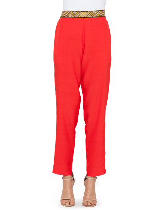 Embroidered Detail Pant