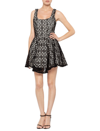 S/L Lace Covered Dress