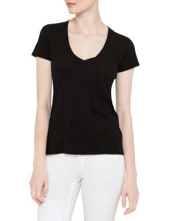 S/S Relaxed Casual V Neck