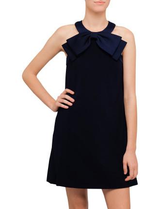 Trixia Halter A-Line Bow Dress