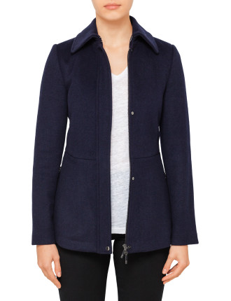 Mid Length Jacket With Collar