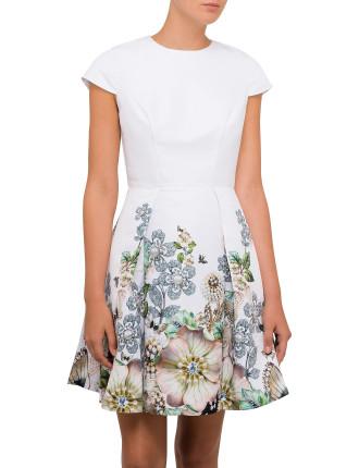 Yvetta Gem Garden Cap Sleeve Dress