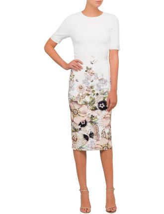 Layli Gem Garden Body Con Dress