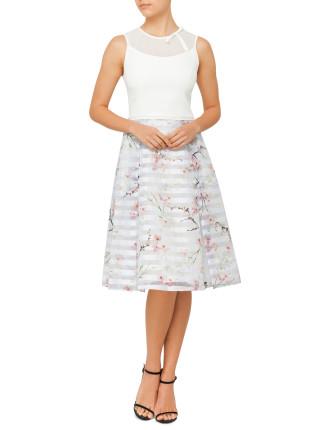 Monah Oriental Blossom Bow Dress