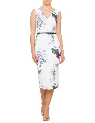Kalab Tropical Oasis Body Con Dress