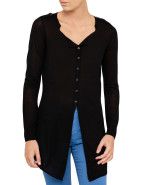 Button Front Long Line Knit $221.25