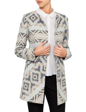 Odiles Jacquard Aztec Coat