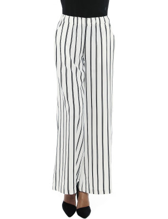 Wide Leg Stripe Pant