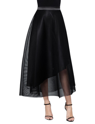 Last Tango Maxi Mesh Skirt