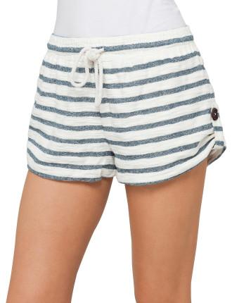 Stripe Textured Cotton Shorts